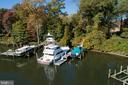 The private pier has 8 feet of water depth - 3057 RUNDELAC RD, ANNAPOLIS
