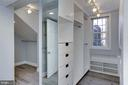 Spacious Closets and Dressing Area - 2543 WATERSIDE DR NW, WASHINGTON