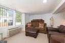 Lower level living room - 3217 RESERVOIR RD NW, WASHINGTON