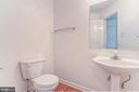 Powder room is spacious - 9 FULTON DR, STAFFORD