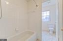 Private bath tub in hall bath - 9 FULTON DR, STAFFORD