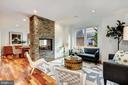 Two Sided Gas Fireplace - 4415 P ST NW, WASHINGTON