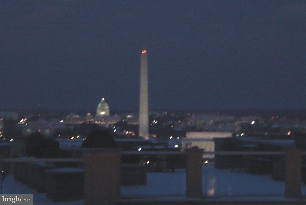 Night time view from balcony - 1401 N OAK ST #309, ARLINGTON