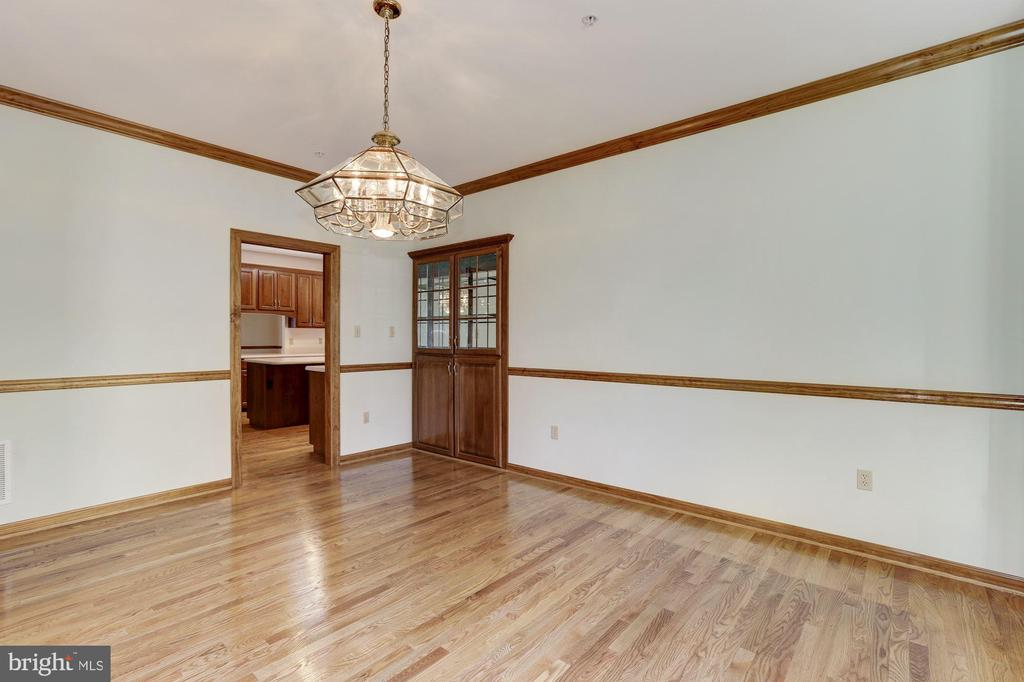 Formal Dining Room with Built In China Cabinet - 7028 HUNTER LN, HYATTSVILLE