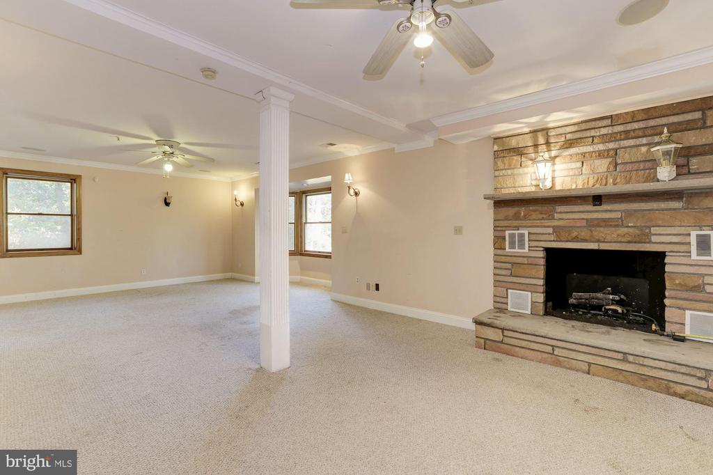 Lower Level Recreation Room with Fireplace - 7028 HUNTER LN, HYATTSVILLE