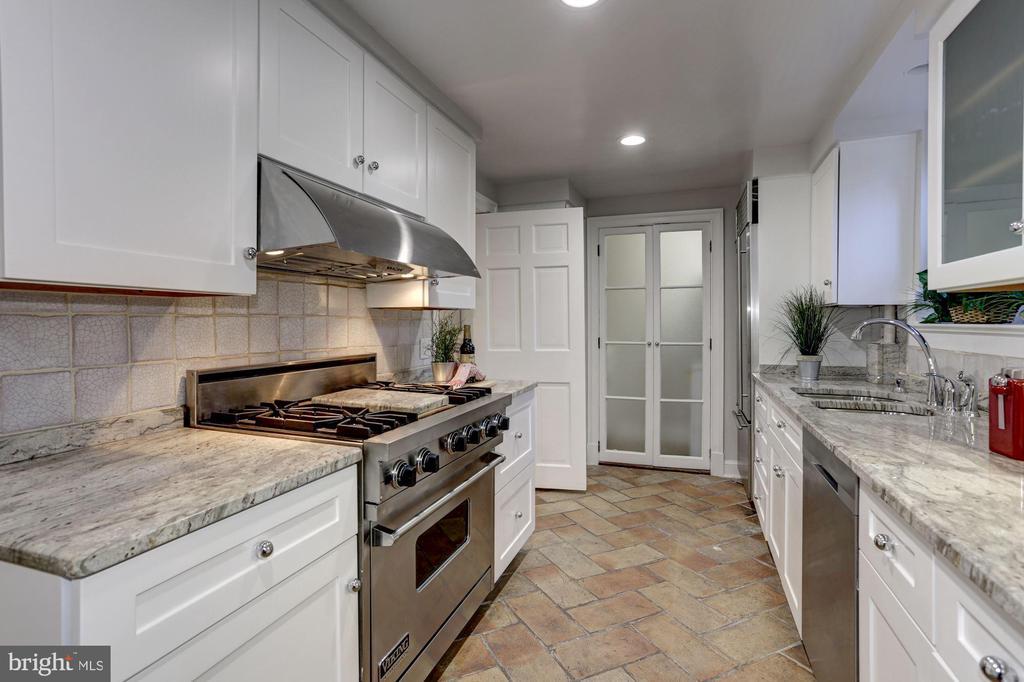 Individually hand-made tiles adorn the walls - 3306 R ST NW, WASHINGTON
