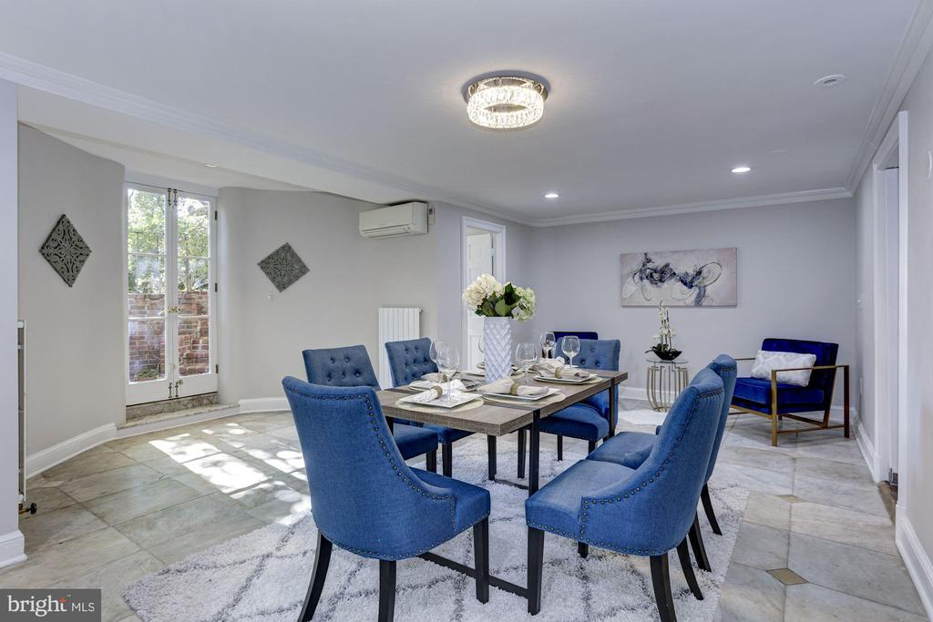 Formal dining space with recessed lighting - 3306 R ST NW, WASHINGTON