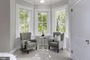 Sun-warmed bay windows overlook garden and outdoor - 3306 R ST NW, WASHINGTON