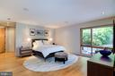 Main level Master BR with view of the pool - 4611 36TH ST N, ARLINGTON