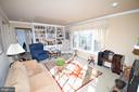 Living Room with Built-in Bookcases - 11690 STOCKBRIDGE LN, RESTON