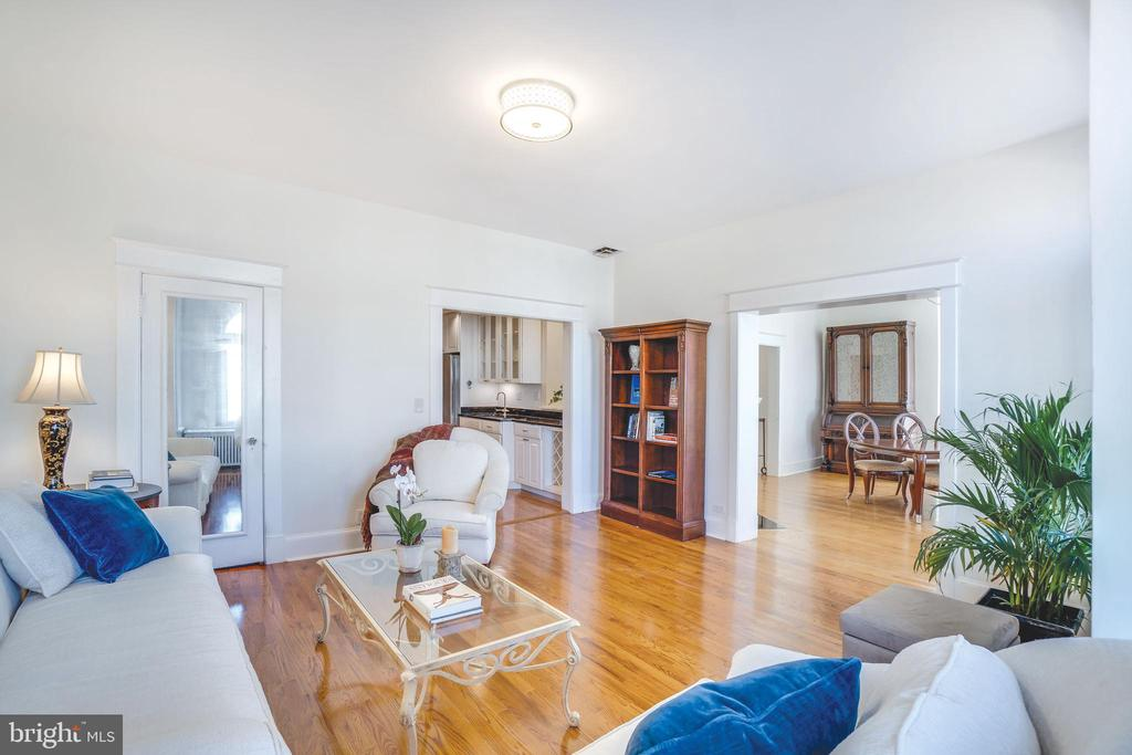 The rooms are all enormous and feature hardwoods - 1755 18TH ST NW, WASHINGTON