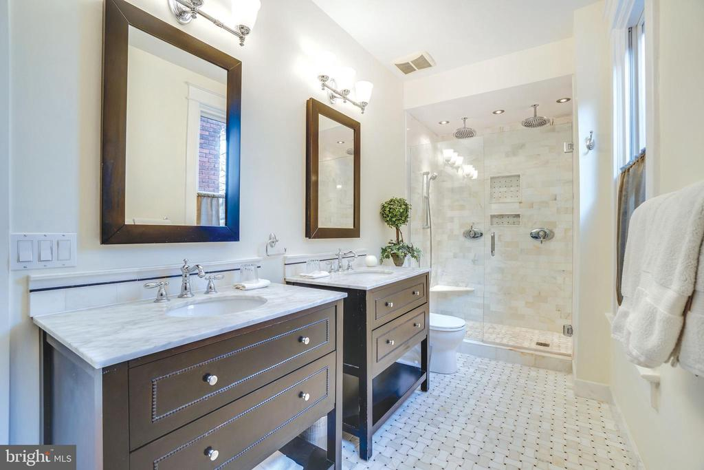 The master bath is a spa, with double rainshower - 1755 18TH ST NW, WASHINGTON