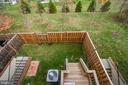 Looking down at yard from  deck. - 42560 DREAMWEAVER DR, BRAMBLETON