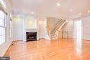 Main Level w/ Gas Fireplace - 1603 LEEDS CASTLE DR, VIENNA