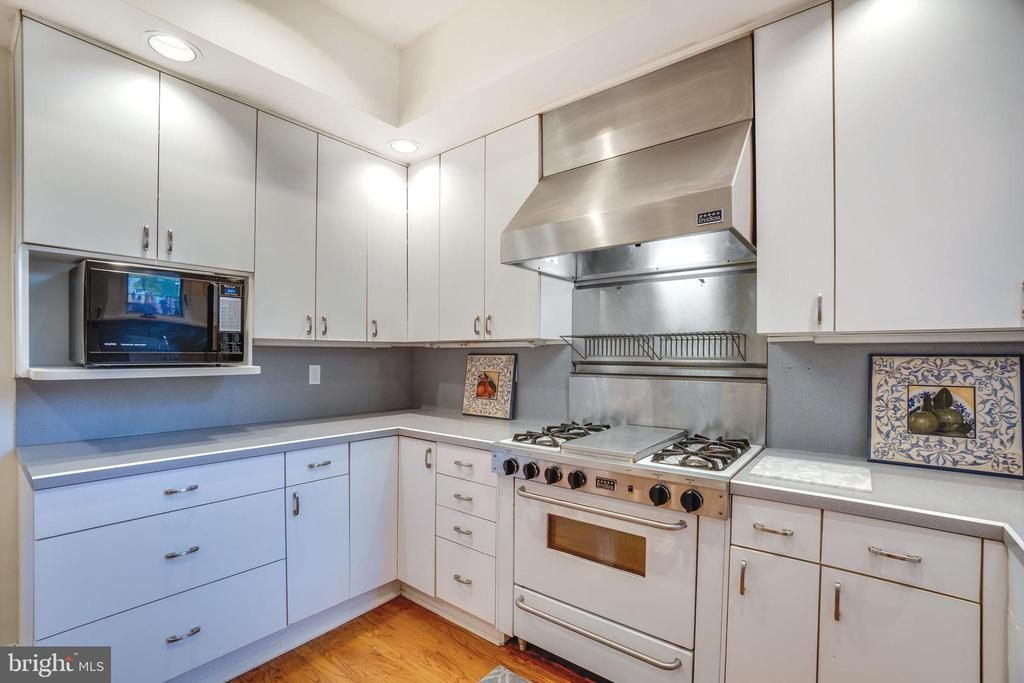 A professional gas range and hood - 1755 18TH ST NW, WASHINGTON