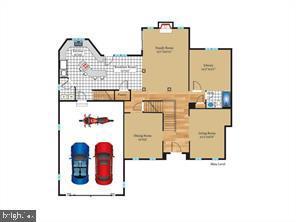 Floor Plan main level - 4423 CARRICO DR, ANNANDALE