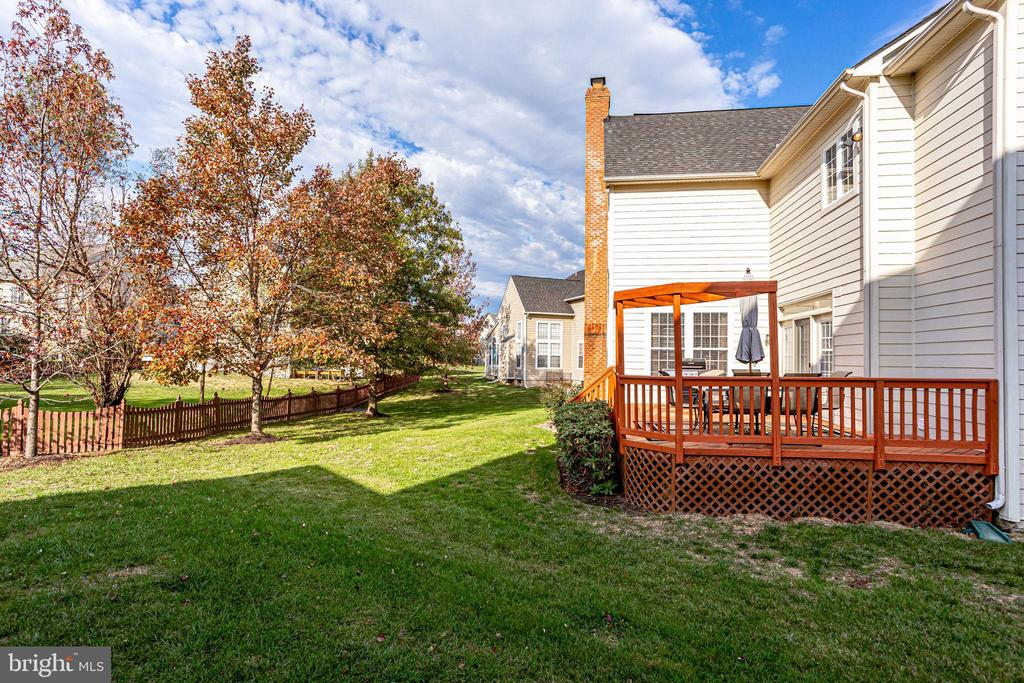 Lovely back yard - 42926 CLOVERLEAF CT, BROADLANDS