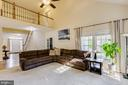 Gigantic family room with cathedral ceilings - 13171 RETTEW DR, MANASSAS