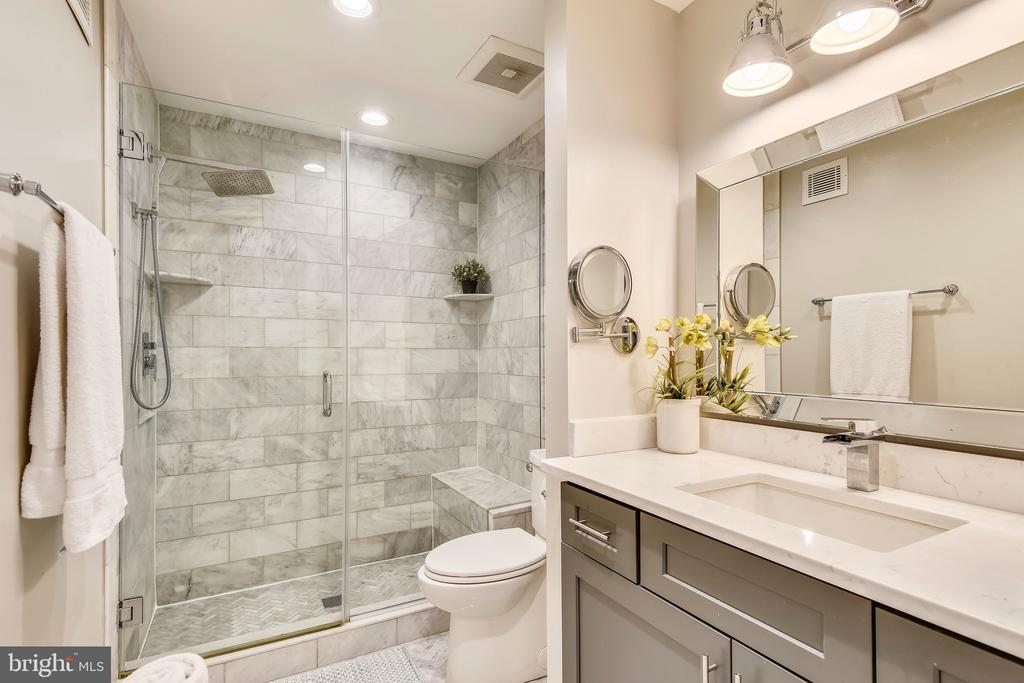 Carrara Marble Bath w/ Rainhead or Handheld Spray - 1034 N RANDOLPH ST, ARLINGTON