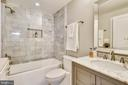 Main Level Full Bath w/ Air Jet Tub- Self Cleaning - 1034 N RANDOLPH ST, ARLINGTON
