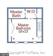 Upper Level Floor Plan - 1034 N RANDOLPH ST, ARLINGTON