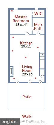 Main Level Floor Plan - 1034 N RANDOLPH ST, ARLINGTON
