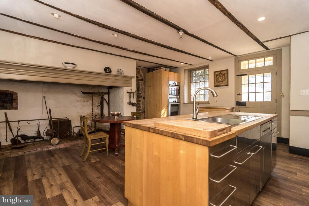Kitchen with walk-in fireplace- House # 1 - 525 LEWIS LN, AMBLER