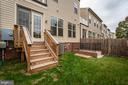 Back Yard is fenced in. - 42560 DREAMWEAVER DR, BRAMBLETON