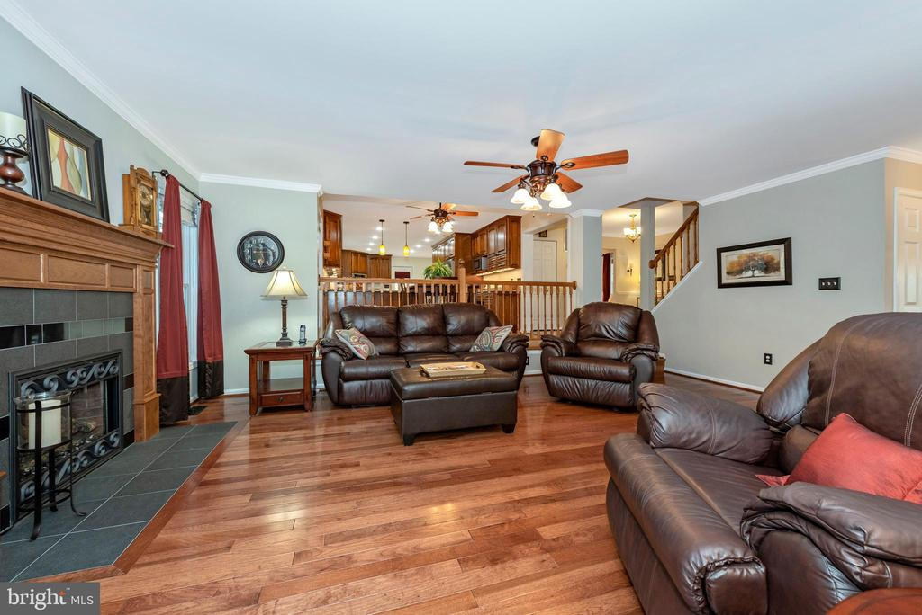 Sit by the gas fireplace to watch your shows - 5745 STONEY CREEK CT, FREDERICK
