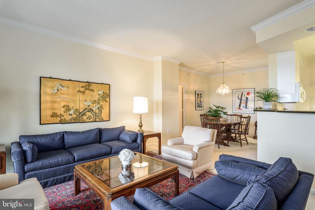 Living Room - 19355 CYPRESS RIDGE TER #615, LEESBURG