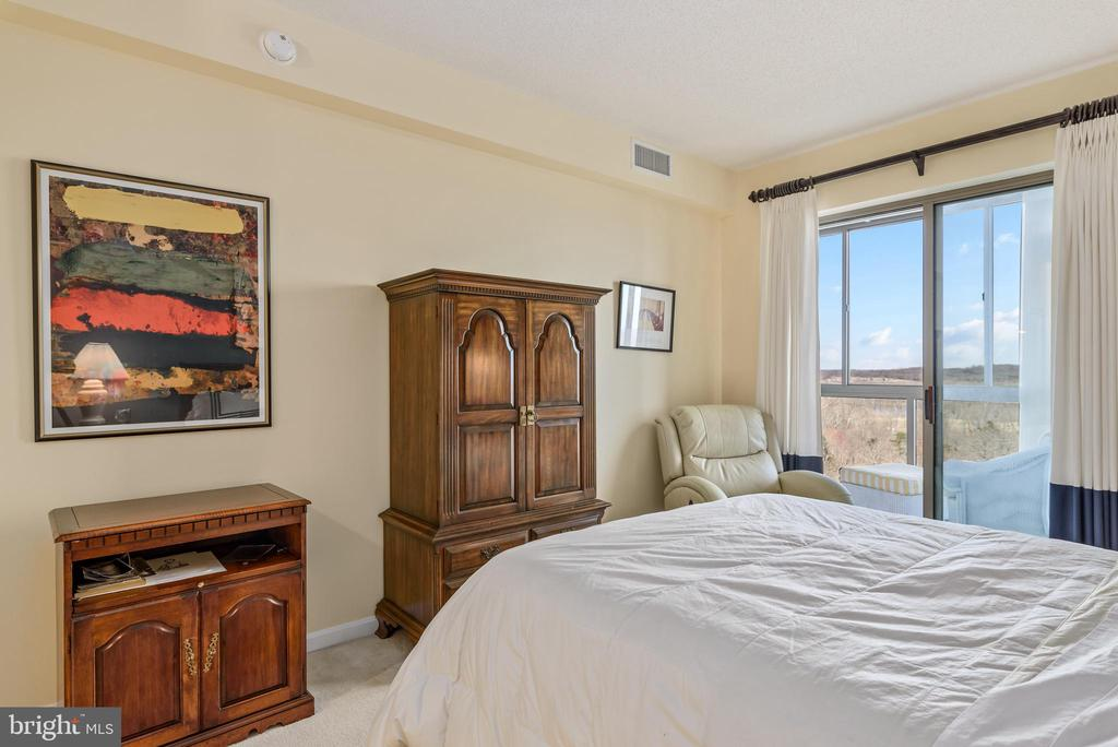 Master bedroom with access to sunroom. - 19355 CYPRESS RIDGE TER #615, LEESBURG