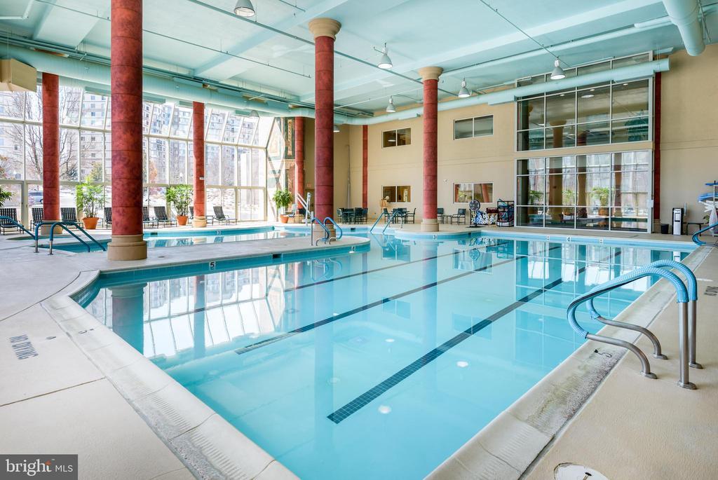 Indoor swimming pool. - 19355 CYPRESS RIDGE TER #615, LEESBURG