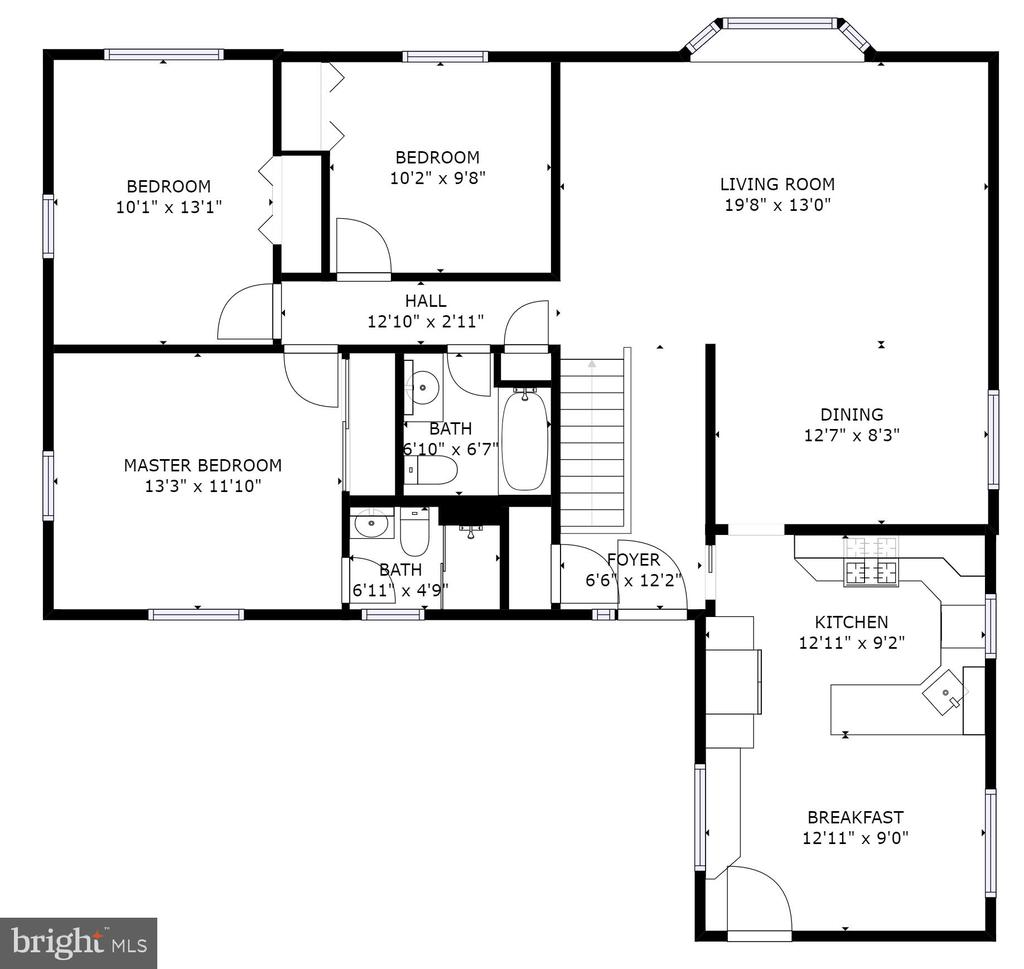 Main Level Floor Plans - 5366 GAINSBOROUGH DR, FAIRFAX