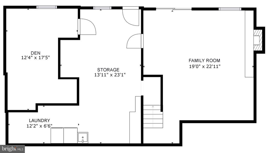 Lower Level Floor Plans - 5366 GAINSBOROUGH DR, FAIRFAX