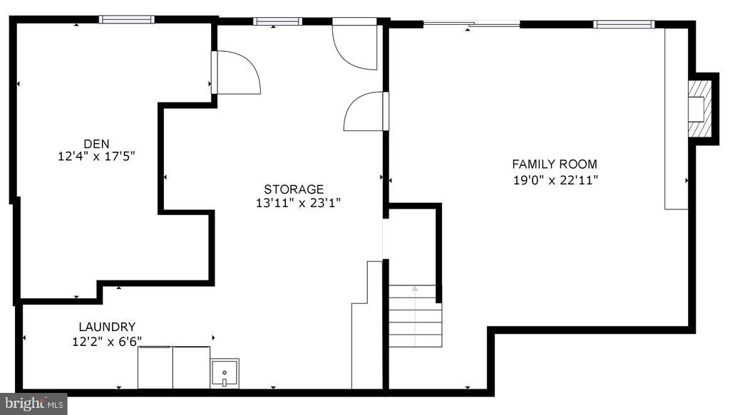 Lower Level Floor Plans - 5366 GAINSBOROUGH DR, FAIRFAX