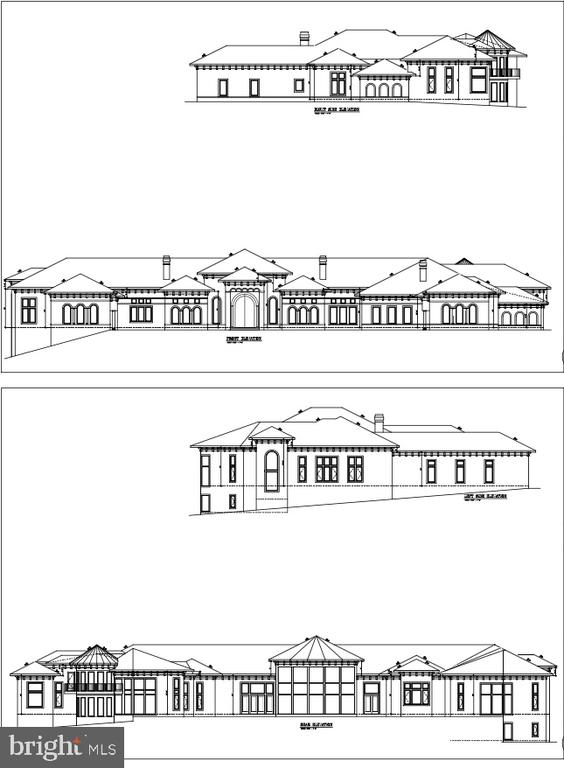 Exterior Renderings - Front, Rear and Sides - 9100 POTOMAC RIDGE RD, GREAT FALLS