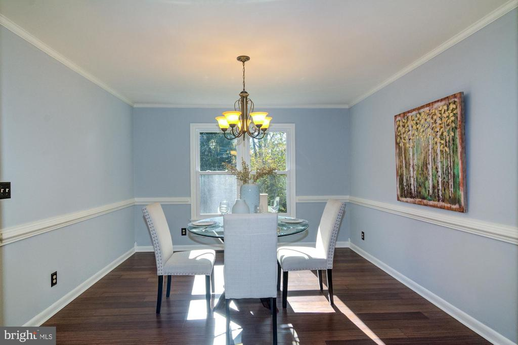 Formal dining room with bamboo flooring. - 21 KELLY WAY, STAFFORD