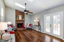 Vaulted ceilings in the family room. - 21 KELLY WAY, STAFFORD