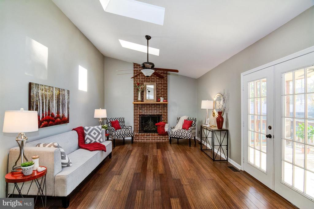 Family room with French doors leading to back. - 21 KELLY WAY, STAFFORD