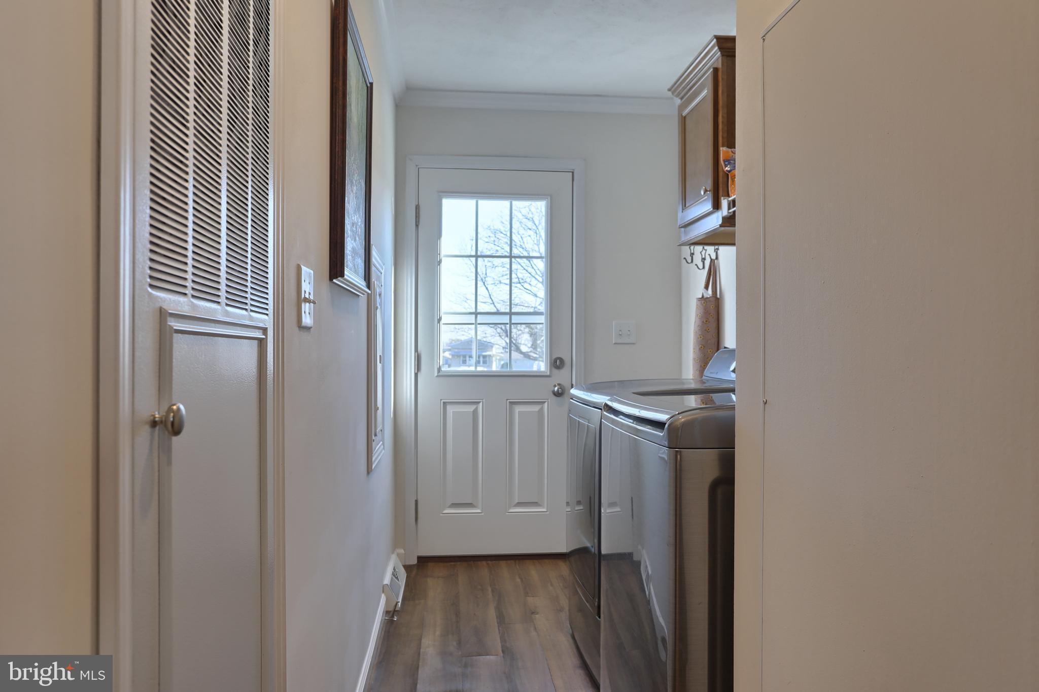 Laundry Area, back door