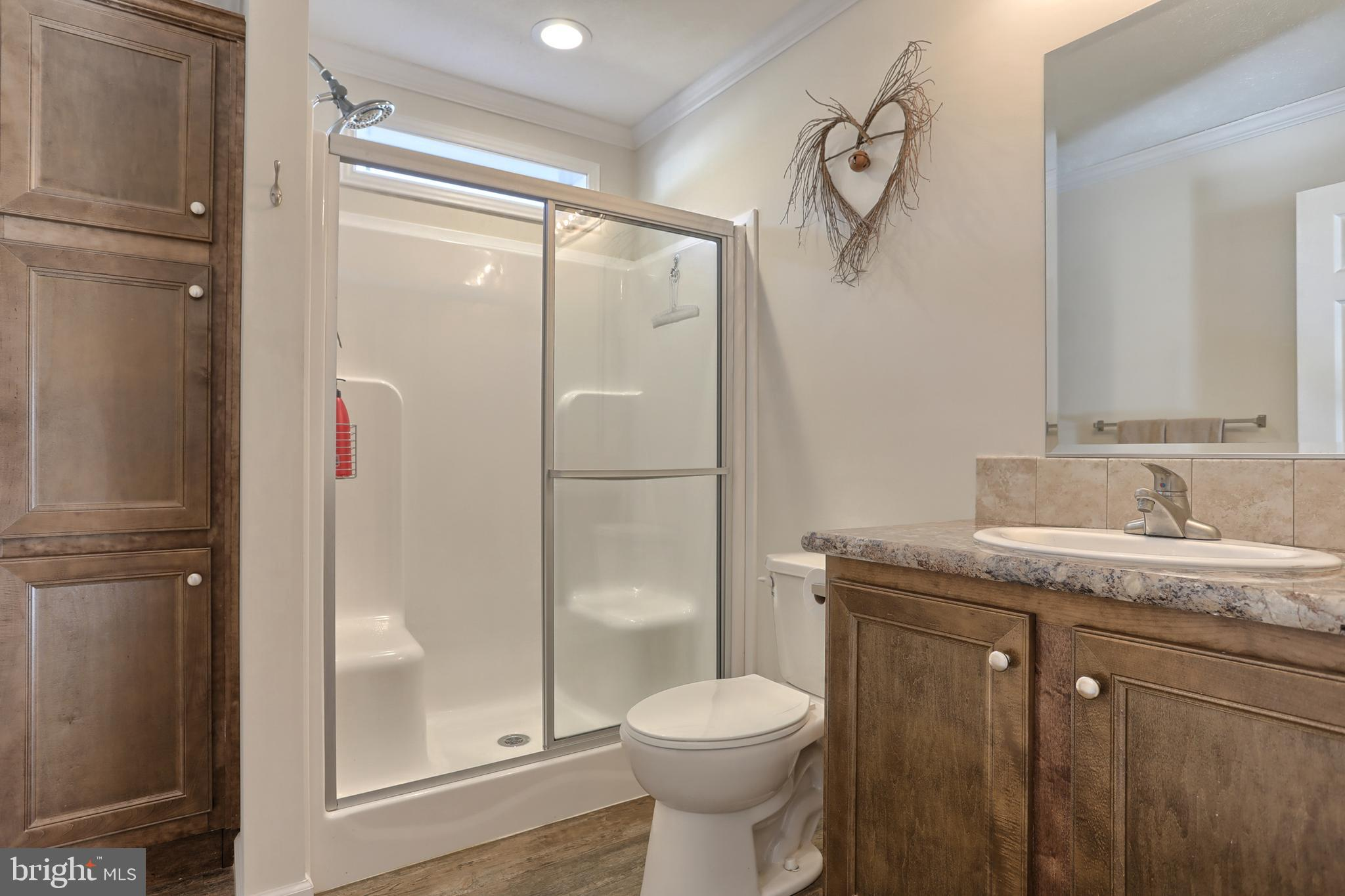 Second full bath with shower stall