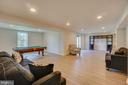 Recreation room with doors leading to backyard. - 15 LIBERTY KNOLLS DR, STAFFORD