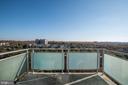 balcony - 10201 GROSVENOR PL #1510, ROCKVILLE