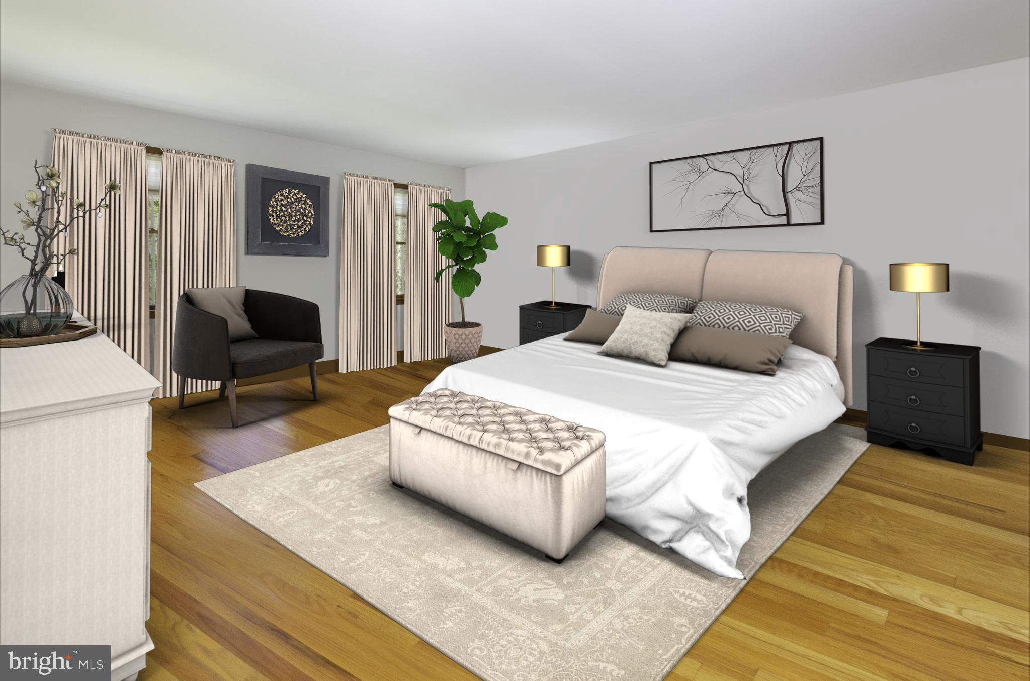Spacious Master Bedroom (virtually staged)