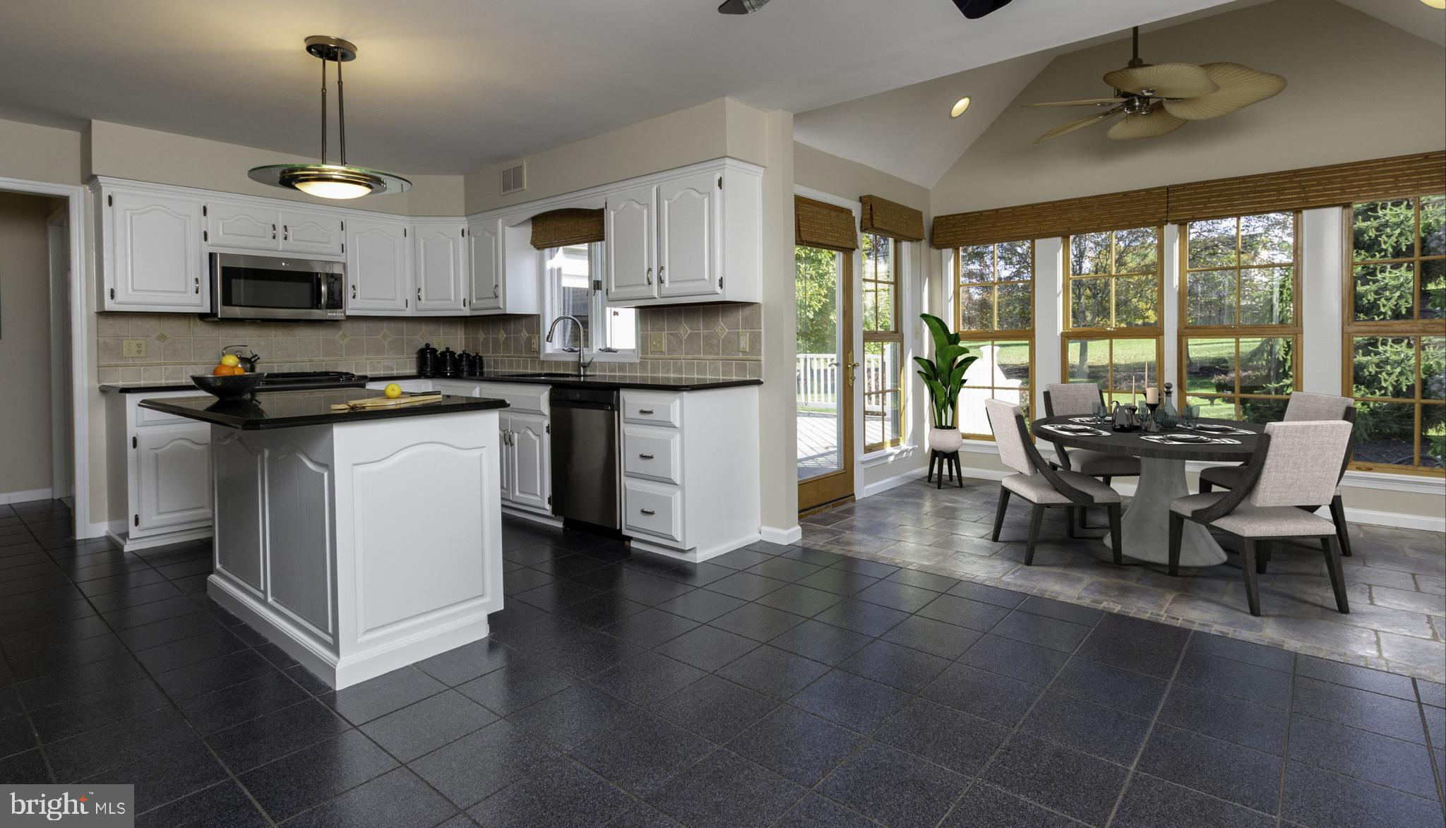 Kitchen w/ Breakfast Room (Table  Virtually Staged