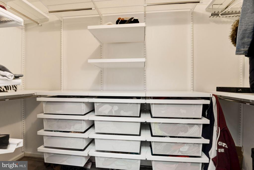 Master Walk In Closet with Elfa Shelving - 1304 CASSIA ST, HERNDON