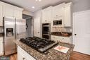 Kitchen has 6 burner Viking & Downdraft - 1304 CASSIA ST, HERNDON