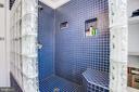 Upper level full bath w/fabulous shower - 232 PRINCESS ANNE ST, FREDERICKSBURG