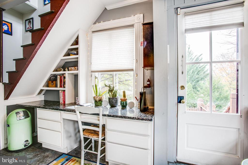 Office and back stairs in the kitchen - 232 PRINCESS ANNE ST, FREDERICKSBURG