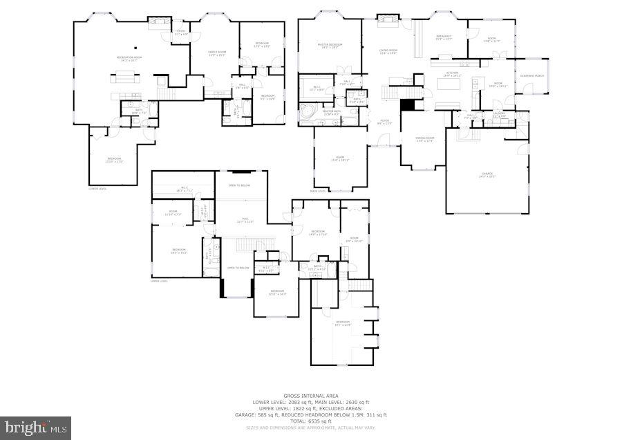 All Levels Floor Plan - 7028 HUNTER LN, HYATTSVILLE